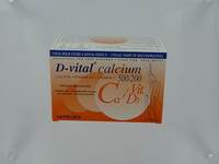 D VITAL CALCIUM 500/200 ORANGE          SACHET 40