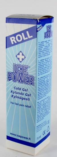 ICE POWER COLD GEL ROLLER TUBE 75ML