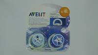 AVENT SUCETTE SILICONE NUIT   6-18M 2
