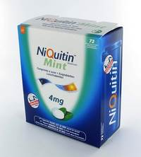 NIQUITIN MINT 4,0MG COMP A SUCER 72