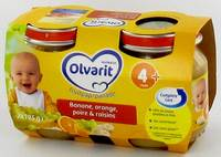OLVARIT MELANGE FRUITS BAN-OR-POIRE-RAIS.4M 2X125G