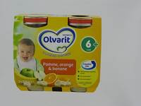 OLVARIT FRUIT POMME-ORANGE-BANANE        4M 2X125G