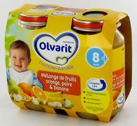 OLVARIT COCKTAIL FRUITS ORANGE-POIR-BAN. 8M 2X200G