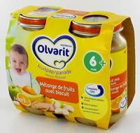 OLVARIT FRUITS MELANGE FRUITS+BISCUIT    6M 2X200G