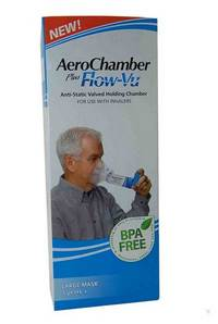 AEROCHAMBER PLUS A/STATIC+FLOW-VU-MASK ADULT