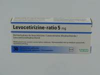 LEVOCETIRIZINE RATIO 5 MG COMP PELL 30X 5MG