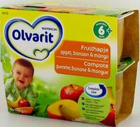OLVARIT FRUIT COUP.POMME-BANANE-MANGUE 4X100G 6M30