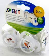 AVENT SUCETTE ANIMAUX SILICONE DOUBLE 0- 6M 2