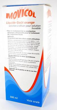 MOVICOL LIQUIDE GOUT ORANGE SOL DIL BUVABLE 500 ML