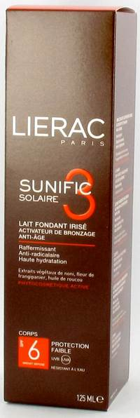 LIERAC SUNIFIC 3 IP6 LAIT A/AGE CORPS   TUBE 125ML